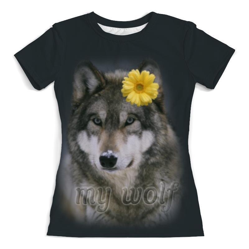 Футболка с полной запечаткой (женская) Printio Мой волк футболка с полной запечаткой мужская printio красная шапочка и серый волк 3