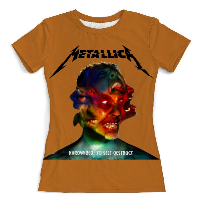 Футболка с полной запечаткой (женская) Printio Metallica band футболка с полной запечаткой женская printio metallica band