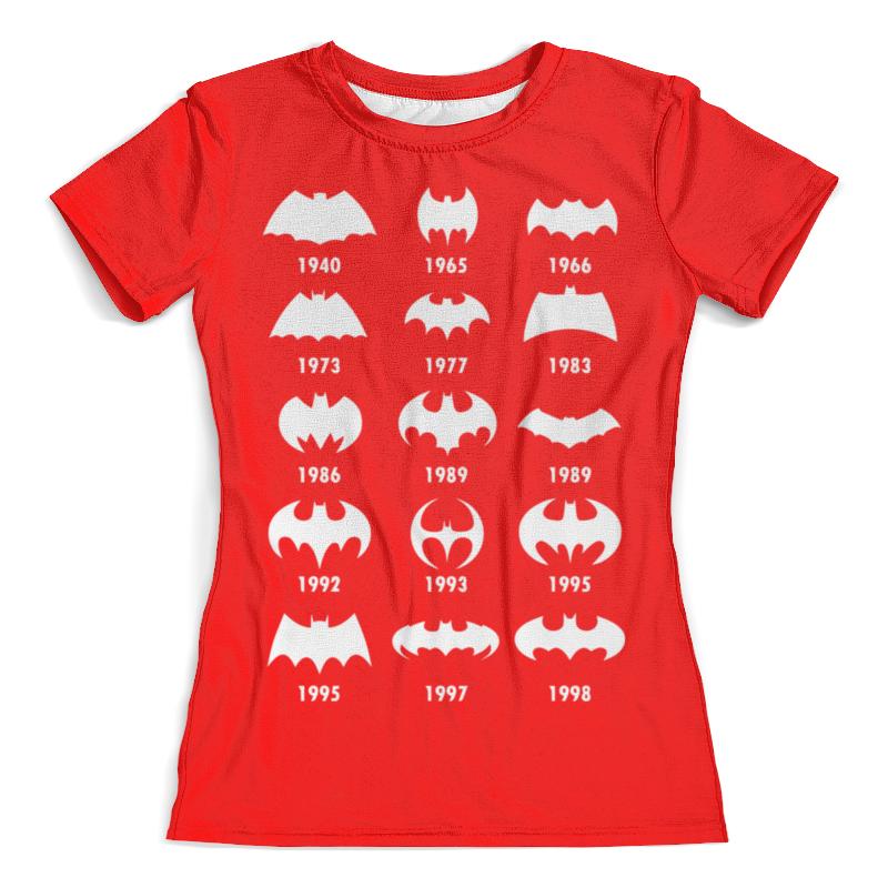 Футболка с полной запечаткой (женская) Printio Бэтмен (batman) футболка с полной запечаткой для девочек printio batman x joker бэтмен
