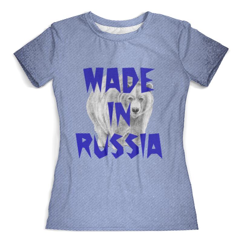 Футболка с полной запечаткой (женская) Printio Сделано в россии цена