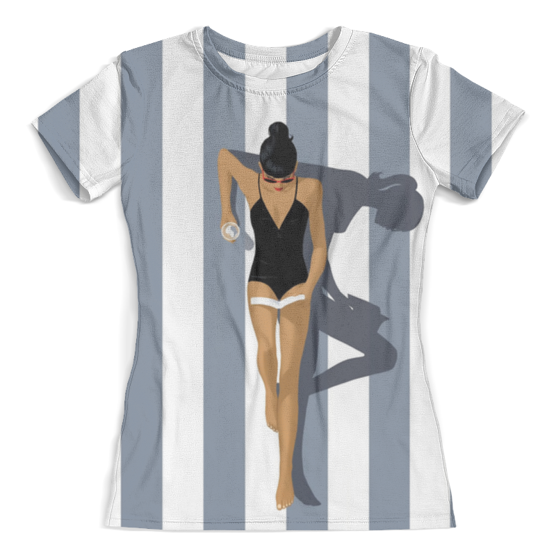 Футболка с полной запечаткой (женская) Printio Girl on the beach the girl on the train