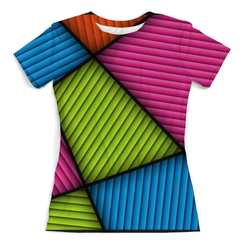 Футболка с полной запечаткой (женская) Printio Цветная абстракция футболка с полной запечаткой женская printio синяя абстракция