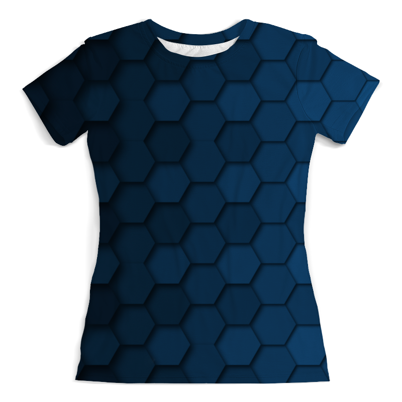 Футболка с полной запечаткой (женская) Printio Синяя абстракция сумка с полной запечаткой printio синяя абстракция
