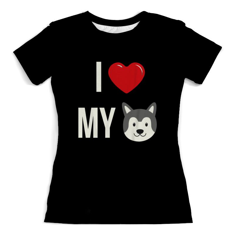 Футболка с полной запечаткой (женская) Printio Я люблю свою собаку футболка с полной запечаткой женская printio я люблю свою собаку