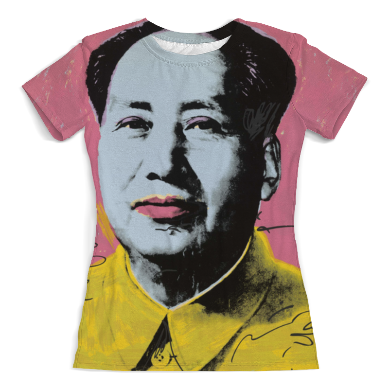 Футболка с полной запечаткой (женская) Printio Мао цзедун мао цзэдун великий кормчий мао цзэдун не бояться трудностей не бояться смерти афоризмы цитаты высказывания