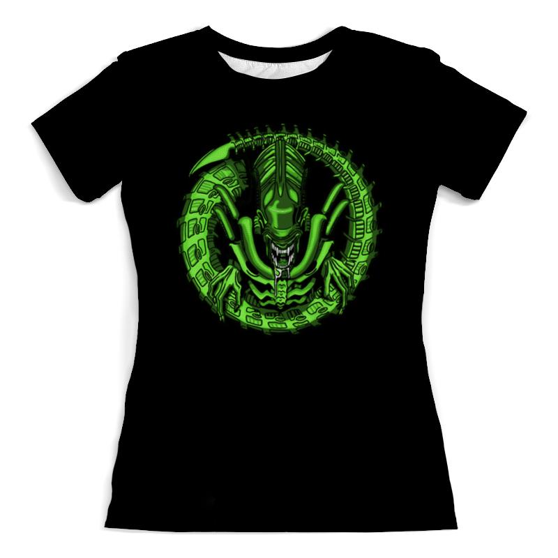 Футболка с полной запечаткой (женская) Printio Alien футболка с полной запечаткой женская printio alien чужой женская