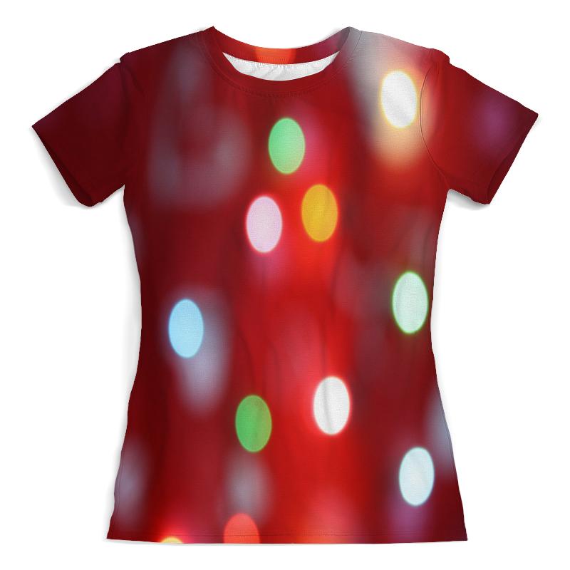 Футболка с полной запечаткой (женская) Printio Блестящие круги подушка 40х40 с полной запечаткой printio блестящие круги