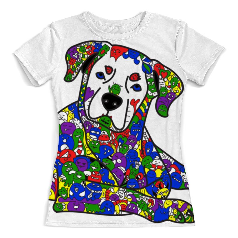 Футболка с полной запечаткой (женская) Printio Собака из дудл монстров толстовка с полной запечаткой printio собака из дудл монстров