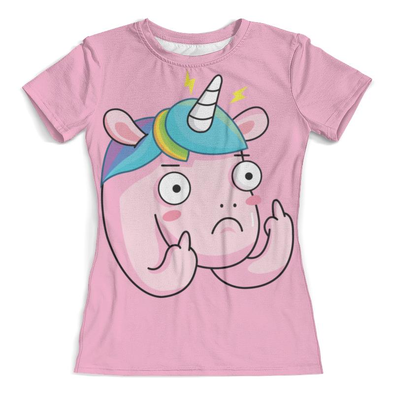 Футболка с полной запечаткой (женская) Printio Unicorn / единорог футболка с полной запечаткой женская printio unicorn единорог