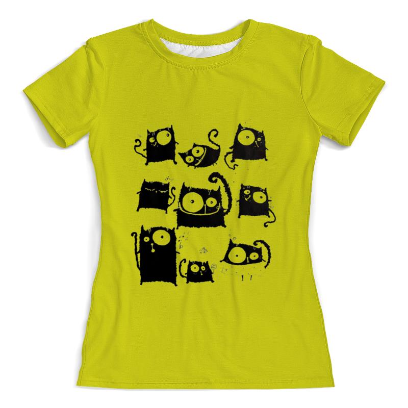 Фото - Футболка с полной запечаткой (женская) Printio Кошки 5 футболка с полной запечаткой женская printio чёрные кошки