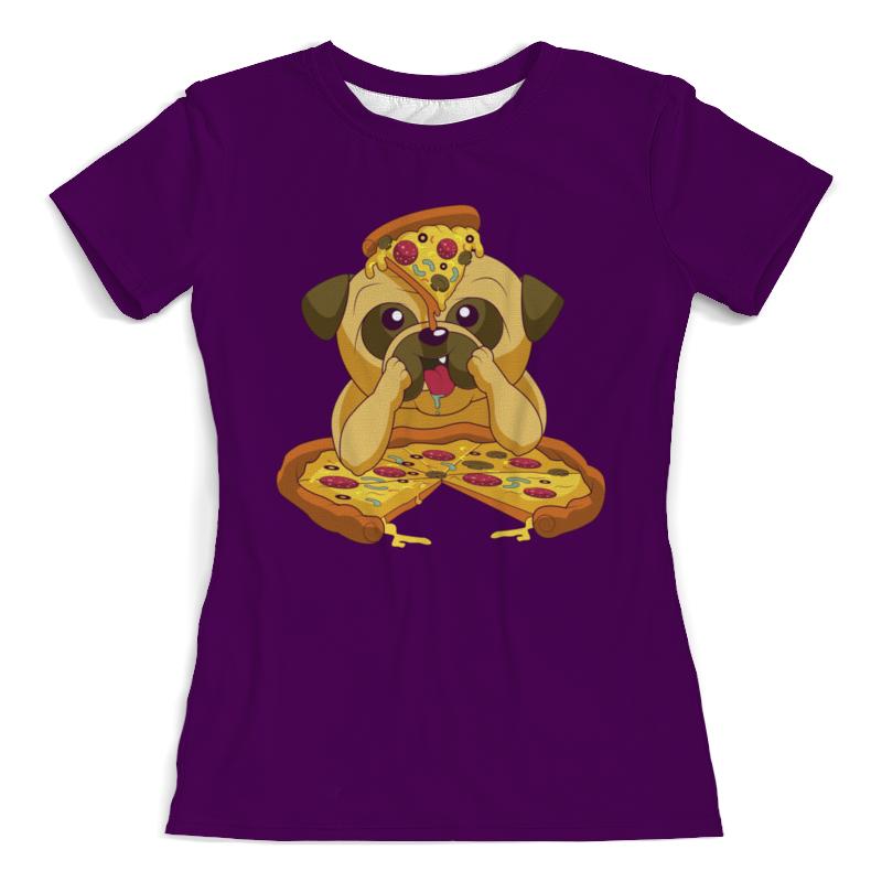 Printio Забавный мопс футболка с полной запечаткой женская printio крутой новогодний мопс