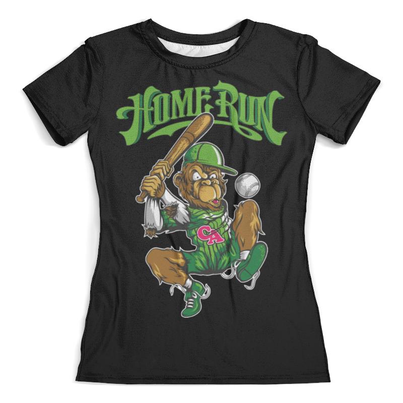 Футболка с полной запечаткой (женская) Printio Спортивная обезьянка анта женская воздухопроницаемая быстросохнущая футболка спортивная одежда