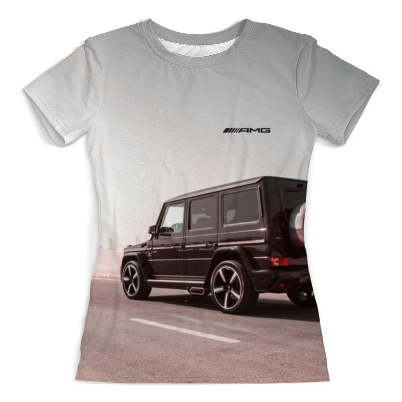 цена Футболка с полной запечаткой (женская) Printio Mercedes benz ///amg (гелендваген)