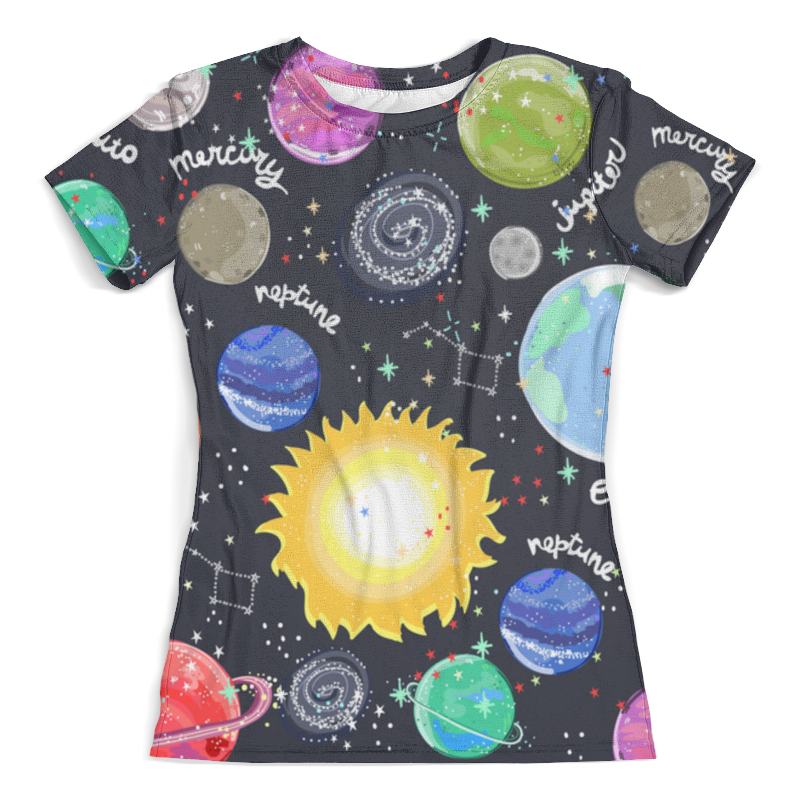 Футболка с полной запечаткой (женская) Printio Планеты футболка print bar планеты