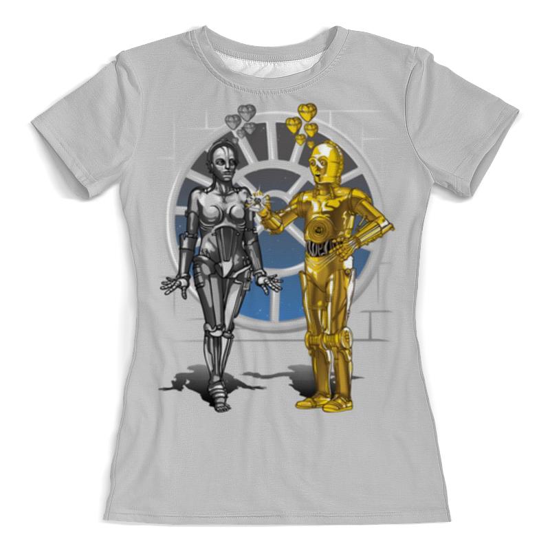 Футболка с полной запечаткой (женская) Printio Robots love story (star wars) пальто alix story alix story mp002xw13vur