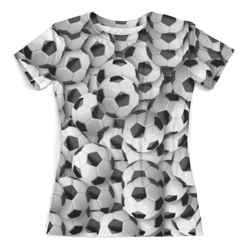 Футболка с полной запечаткой (женская) Printio Футбольный мяч женская одежда для спорта