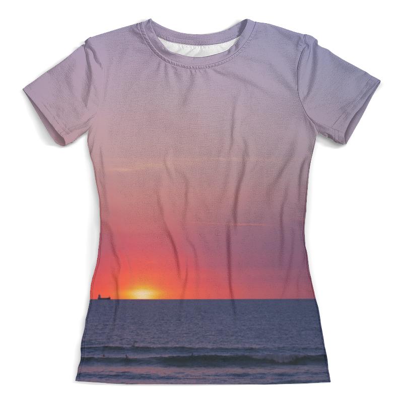 Футболка с полной запечаткой (женская) Printio Закат у моря фотошторы сирень закат у моря