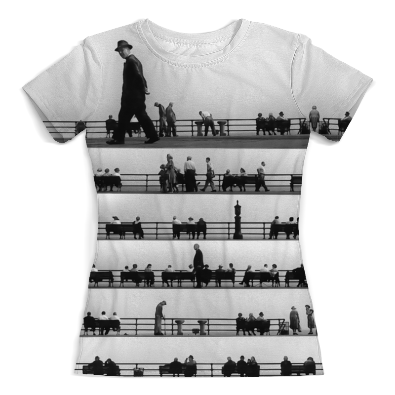 Футболка с полной запечаткой (женская) Printio Music of the people футболка классическая printio junk people