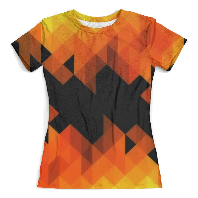 Футболка с полной запечаткой (женская) Printio Triangle orange футболка с полной запечаткой женская printio colorfull triangle