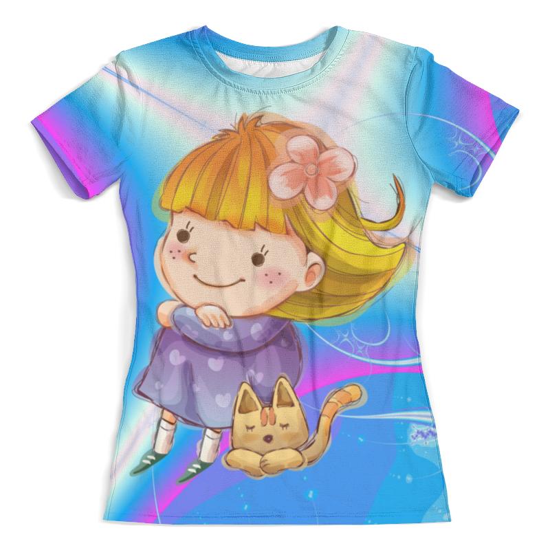 Футболка с полной запечаткой (женская) Printio Girl & kitty футболка с полной запечаткой женская printio fashion girl in sketch style