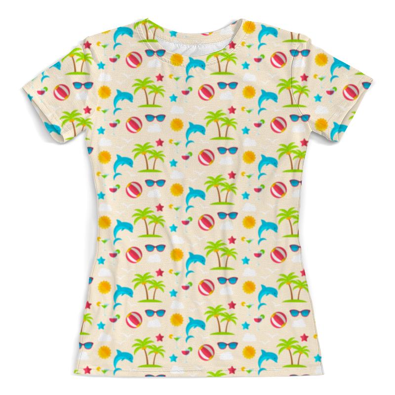 Футболка с полной запечаткой (женская) Printio Летний отдых футболка с полной запечаткой женская printio на отдых