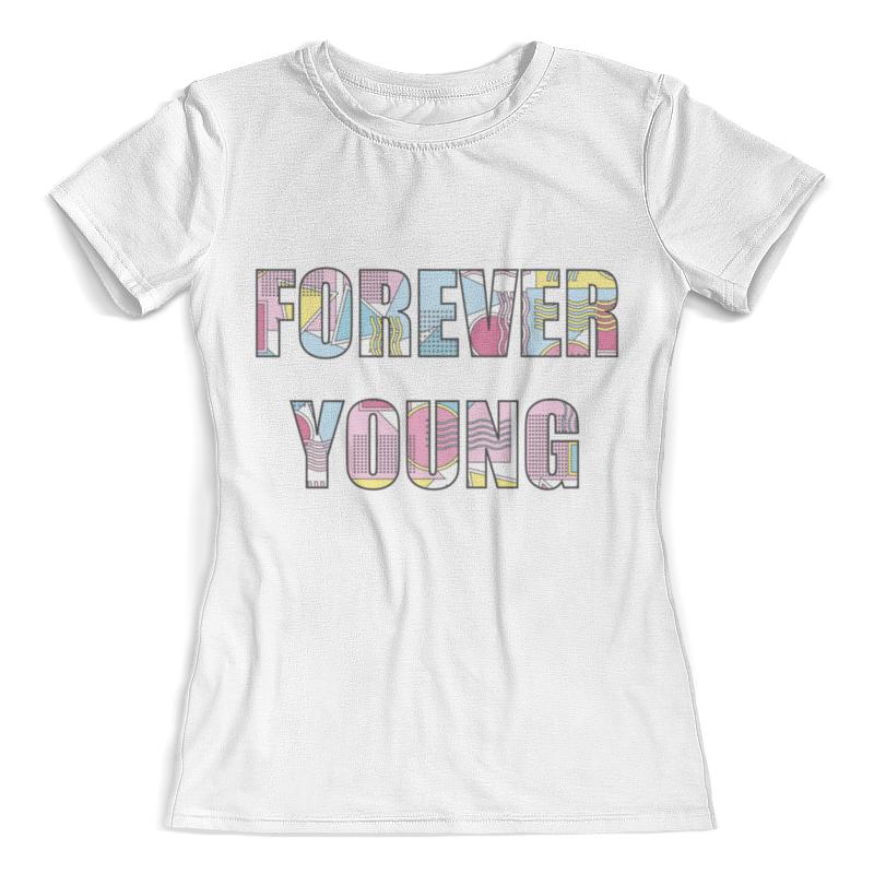 Футболка с полной запечаткой (женская) Printio Forever young