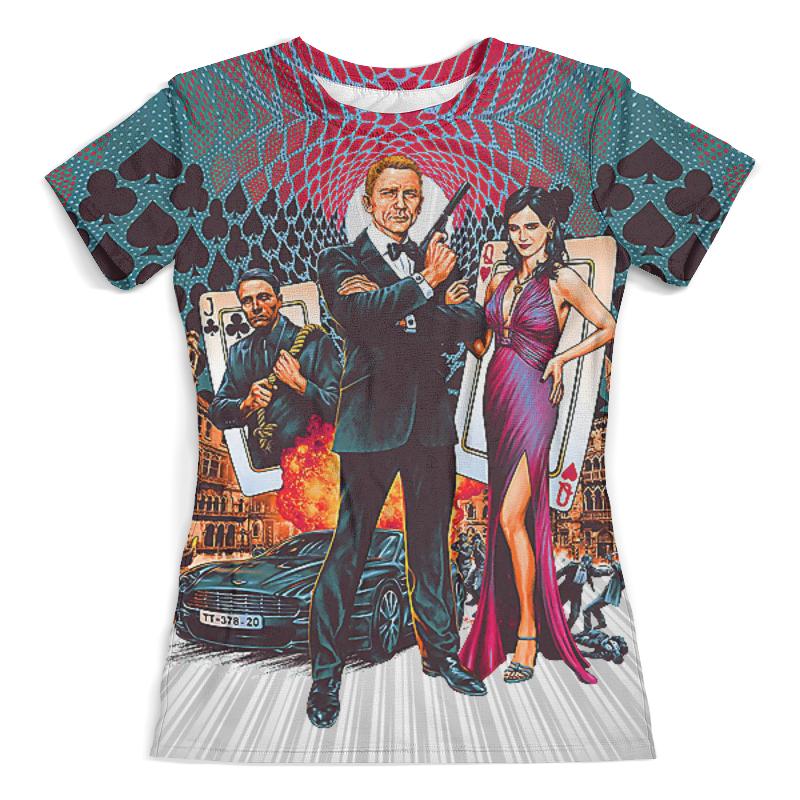 Футболка с полной запечаткой (женская) Printio Casino royale (agent 007) футболка с полной запечаткой мужская printio clash royale