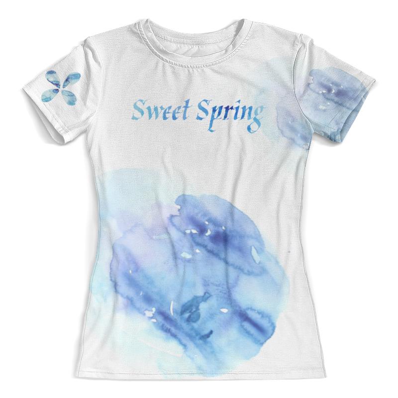 Футболка с полной запечаткой (женская) Printio Sweet spring (aquarelle)