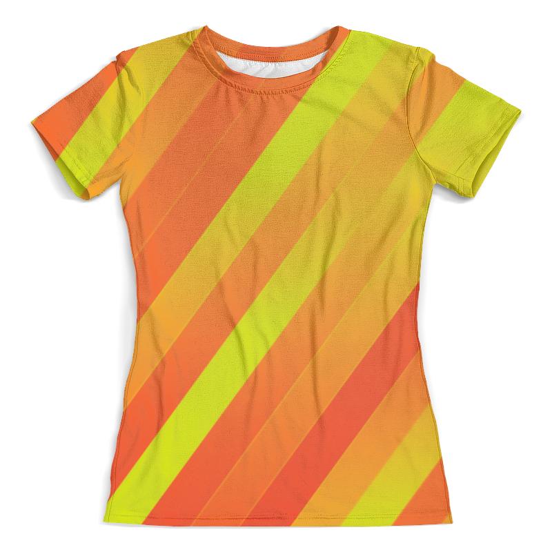 Футболка с полной запечаткой (женская) Printio Желто-оранжевые линии футболка с полной запечаткой женская printio желто зеленый узор