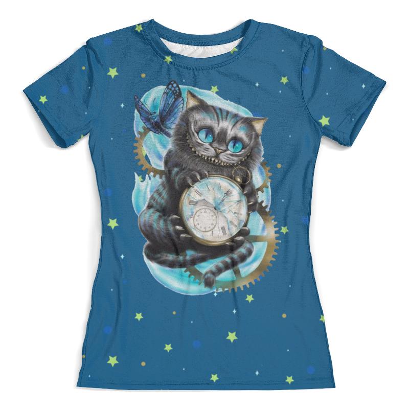 Printio Чеширский кот футболка с полной запечаткой женская printio кот и мышь