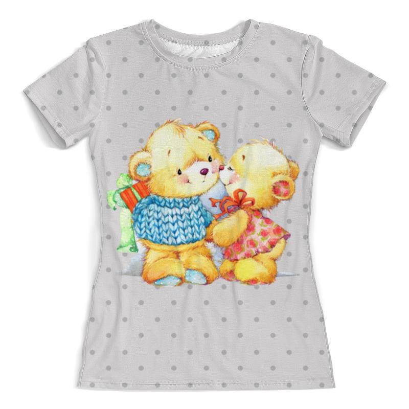 Printio Романтичные мишки. парные футболки. футболка с полной запечаткой женская printio кот и зайка на воздушном шаре парные футболки