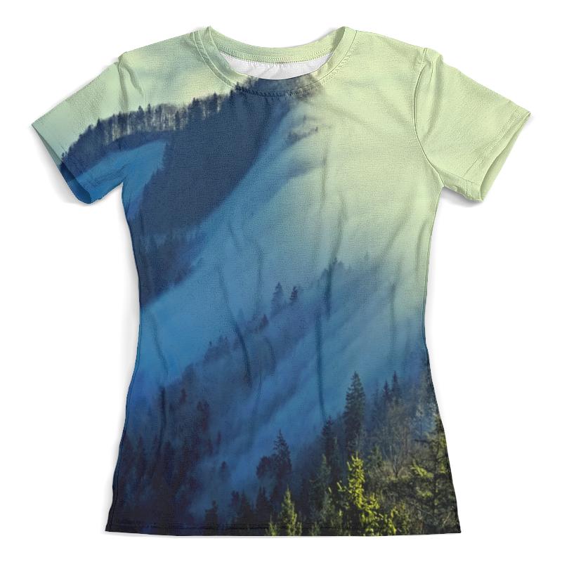 Футболка с полной запечаткой (женская) Printio Живописный пейзаж юбка в складку printio живописный пейзаж