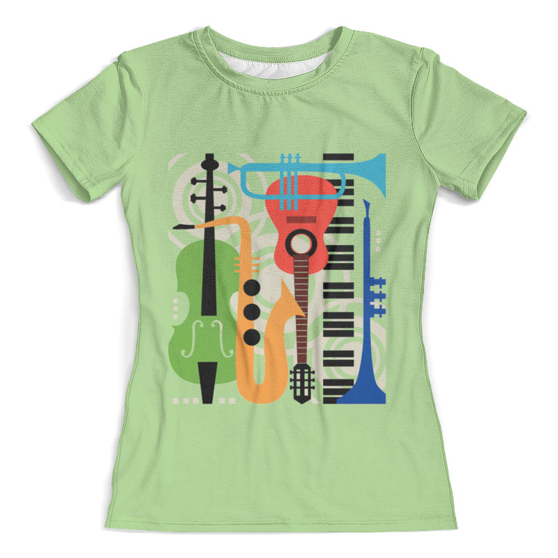 Футболка с полной запечаткой (женская) Printio Музыкальные инструменты свитшот унисекс с полной запечаткой printio музыкальные инструменты