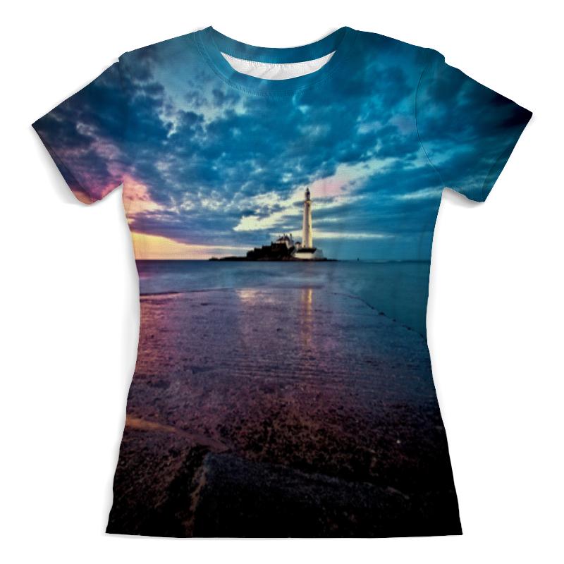 Футболка с полной запечаткой (женская) Printio Маяк в море футболка с полной запечаткой женская printio девушка море от milanna