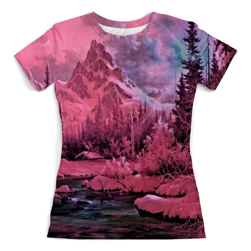 Printio Розовый пейзаж футболка с полной запечаткой женская printio розовый кристалл