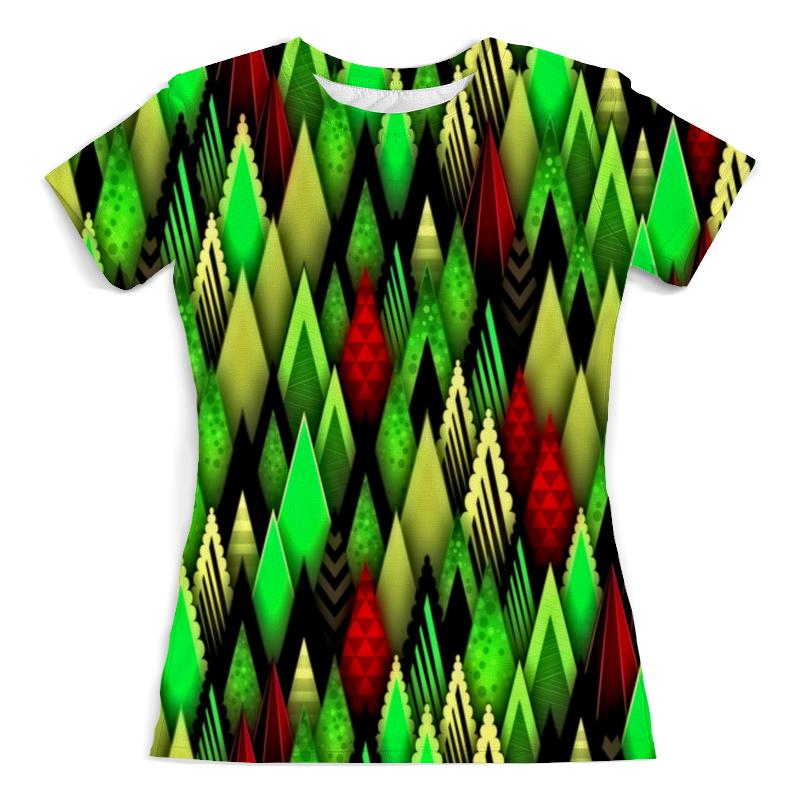 Футболка с полной запечаткой (женская) Printio Цветные фигуры мастак зеленые