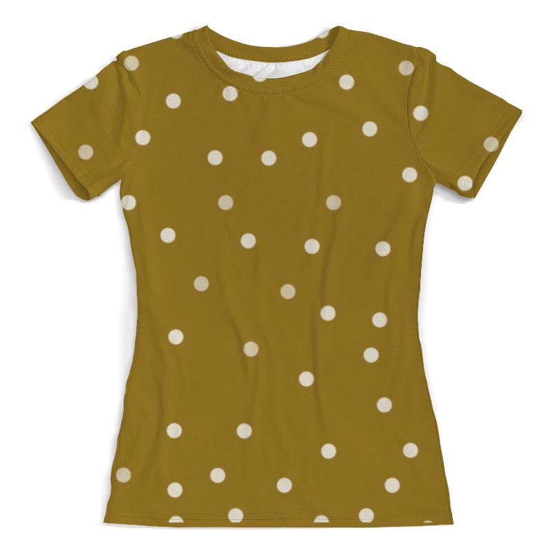 Футболка с полной запечаткой (женская) Printio Охра в горох футболка с полной запечаткой женская printio белый горох