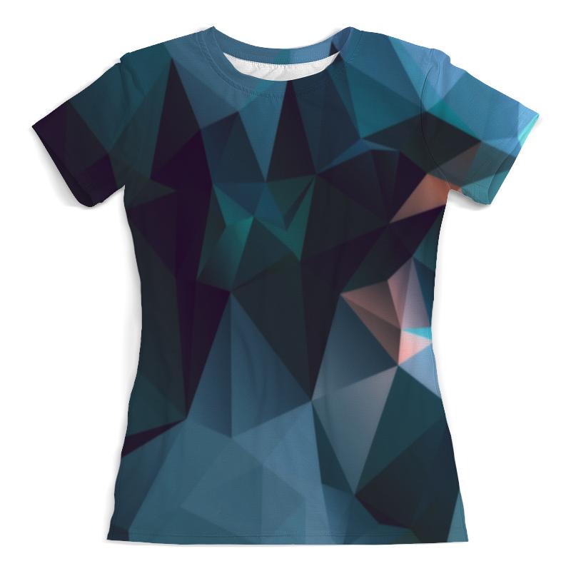 Футболка с полной запечаткой (женская) Printio Blue abstract