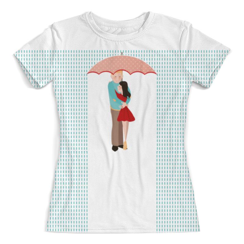 Футболка с полной запечаткой (женская) Printio Влюблённые под дождем валерия ганчо шоколад под дождем