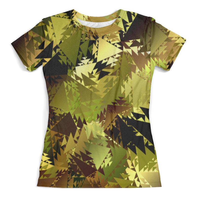 Футболка с полной запечаткой (женская) Printio Абстракция хаки футболка цвета хаки