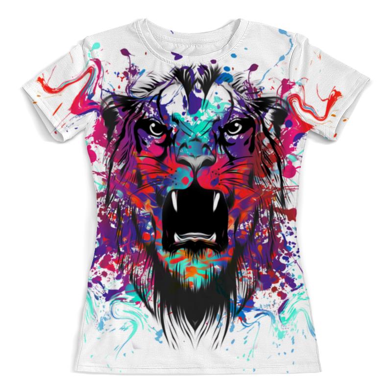 Футболка с полной запечаткой (женская) Printio Тигр красками футболка с полной запечаткой мужская printio тигр 3d