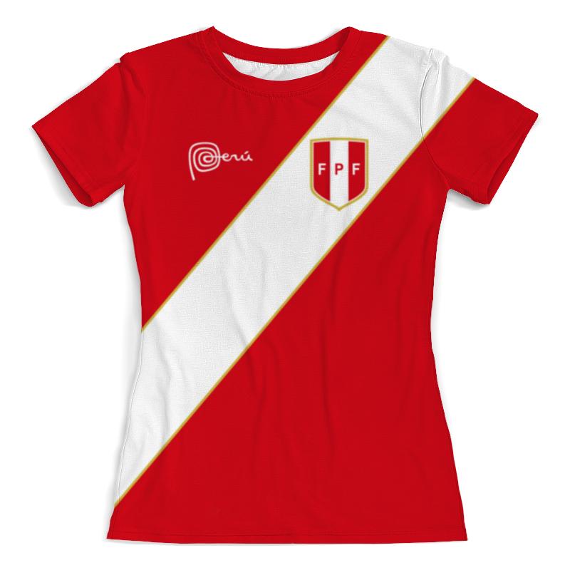Футболка с полной запечаткой (женская) Printio Сборная перу футболка с полной запечаткой женская printio перу инков
