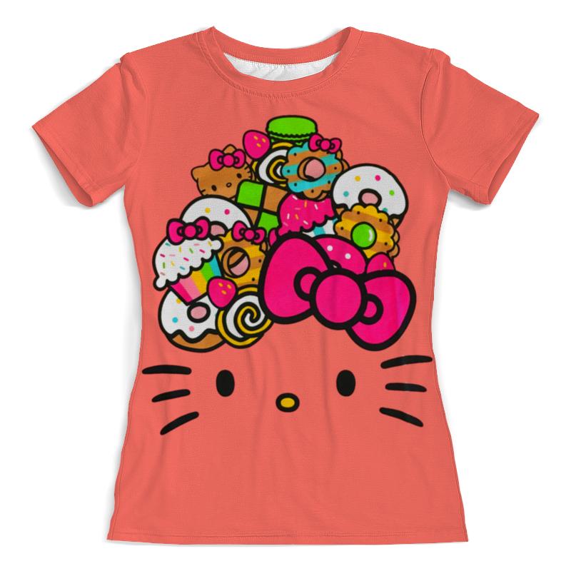 Футболка с полной запечаткой (женская) Printio Hello kitty футболка с полной запечаткой для девочек printio hello kitty с искрами