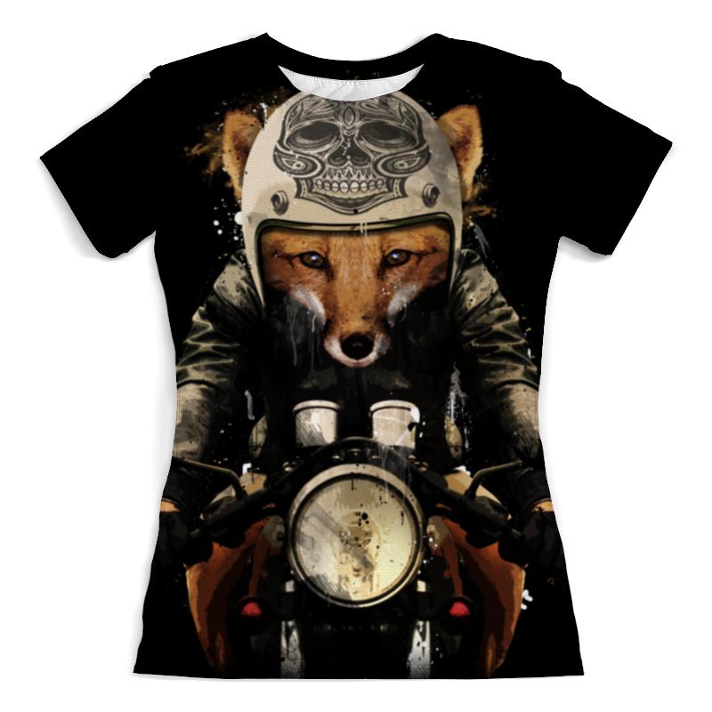 Футболка с полной запечаткой (женская) Printio Лис на мотоцикле футболка с полной запечаткой женская printio муза на пегасе одилон редон