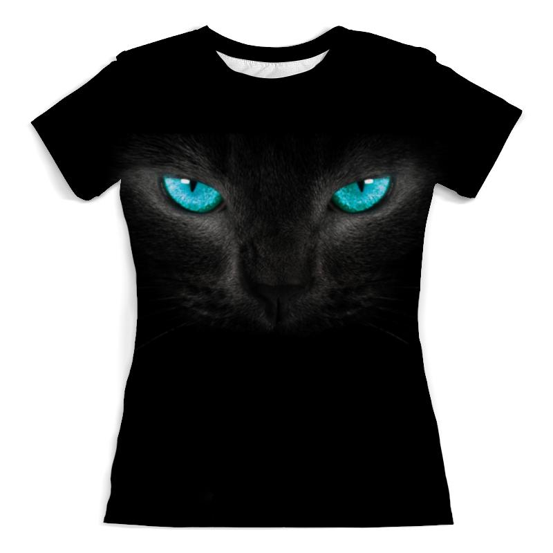 Футболка с полной запечаткой (женская) Printio Взгляд черной кошки футболка с полной запечаткой для мальчиков printio взгляд черной кошки