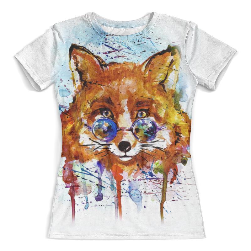 Футболка с полной запечаткой (женская) Printio Fox - 1 футболка с полной запечаткой женская printio ритм 1 робер делоне