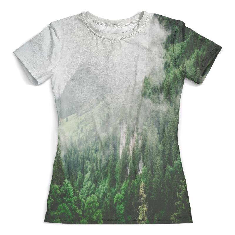 Футболка с полной запечаткой (женская) Printio Туманные горы платье летнее printio туманные горы