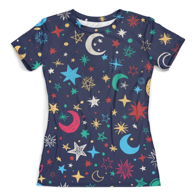 Футболка с полной запечаткой (женская) Printio Звёздное небо футболка с полной запечаткой женская printio свечки в небо