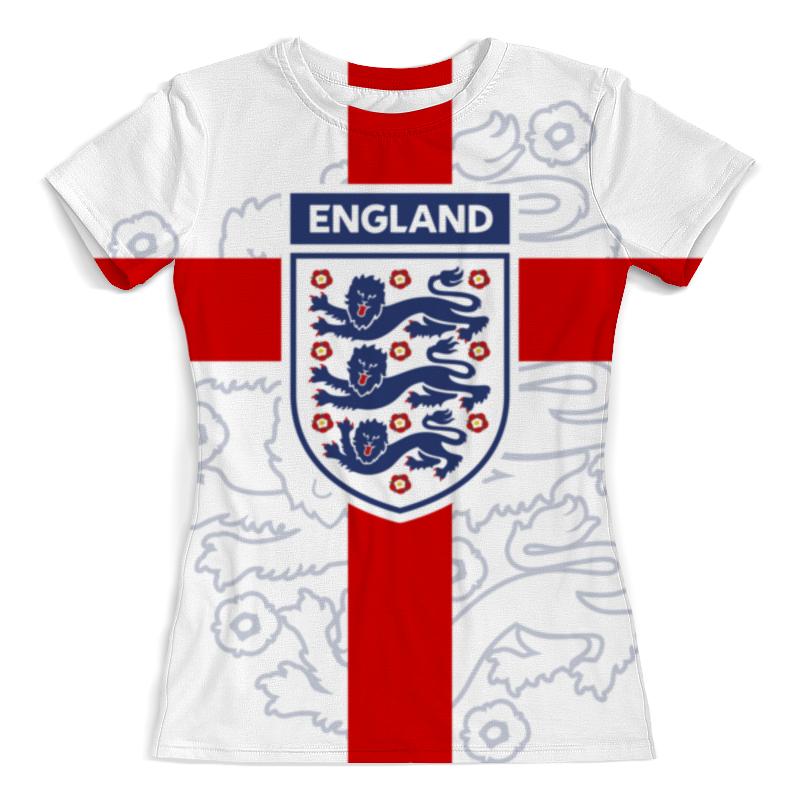 Футболка с полной запечаткой (женская) Printio Сборная англии цена