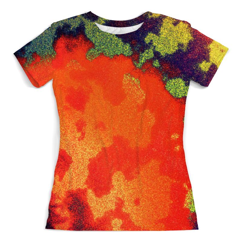 Printio Цветные брызги футболка с полной запечаткой женская printio брызги красок